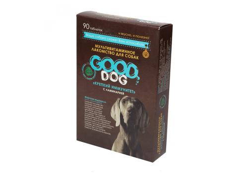 Мультивитаминное лакомство Good Cat Крепкий иммунитет (с ламинарией)  для собак, 90таб