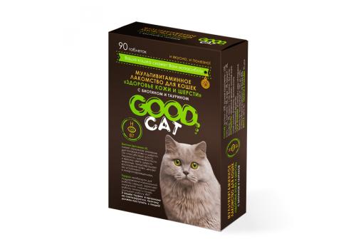 Мультивитаминное лакомство Good Cat Здоровье кожи и шерсти для кошек, 90таб