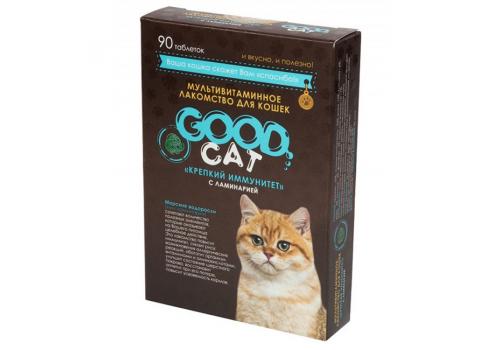 Мультивитаминное лакомство Good Cat Крепкий иммунитет (с ламинарией)  для кошек, 90таб