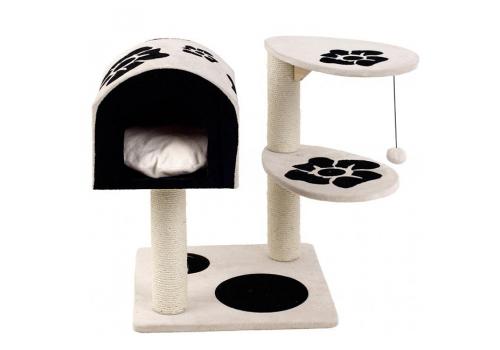Дом-когтеточка Karlie Pet Monopolis для кошек, черно-белый