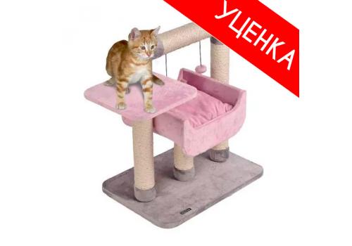 Дом-когтеточка Karlie Quattro Kidz розовый-серый