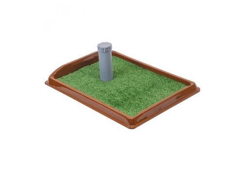Туалет для собак Рокки со столбиком, искусственная трава, 55*40см
