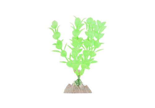 Растение пластиковое Glofish флуоресцентное зеленое, 40см