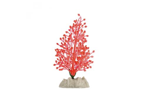 Растение пластиковое Glofish флуоресцентное оранжевое, 21см