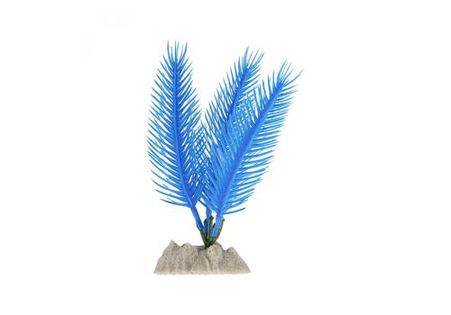 Растение пластиковое Glofish флуоресцентное синее, 13см