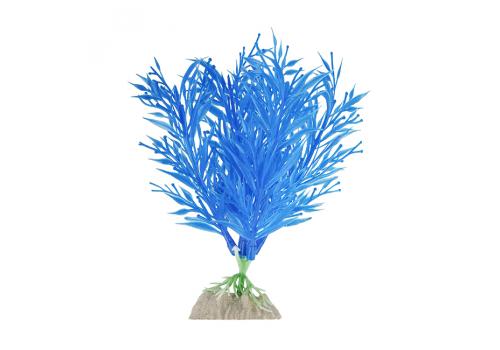 Растение пластиковое Glofish флуоресцентное синее, 15,24см