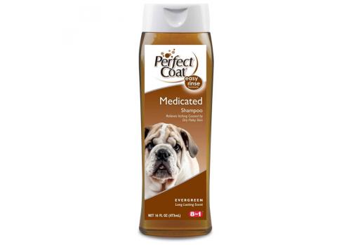 Шампунь 8in1 Shampoo Medicated - Fresh Pine дегтярный от перхоти для собак, 473мл