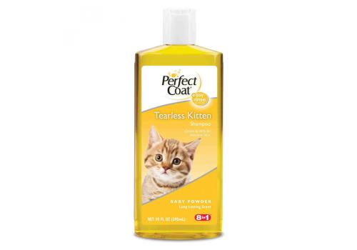 Шампунь 8in1 Tearless Kitten без слез с ароматом детской присыпки для котят, 295мл