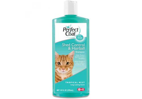 Шампунь 8in1 Shed Control & Hairball против линьки от колтунов для кошек, 295мл