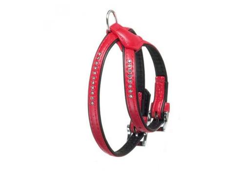Шлейка Karlie ART LEATHER+ для собак, 20мм*45-70см, красная
