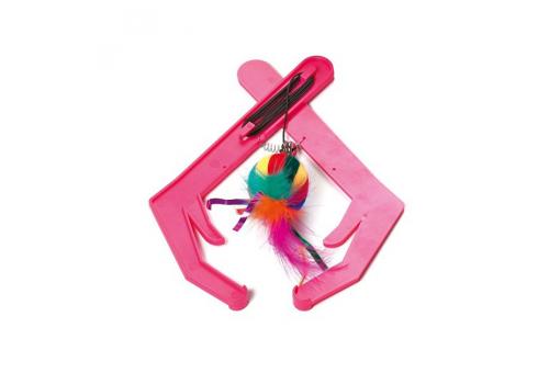 Игрушка для кошек Karlie Мышка на веревочке 480625