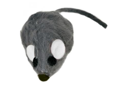 Игрушка д/кошек Мышь меховая, 5см