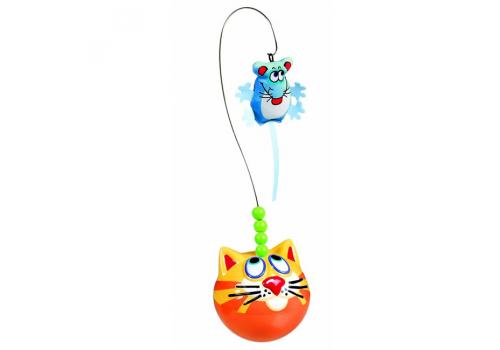 Игрушка для кошек FatCat Неваляшка с мышкой, пластик