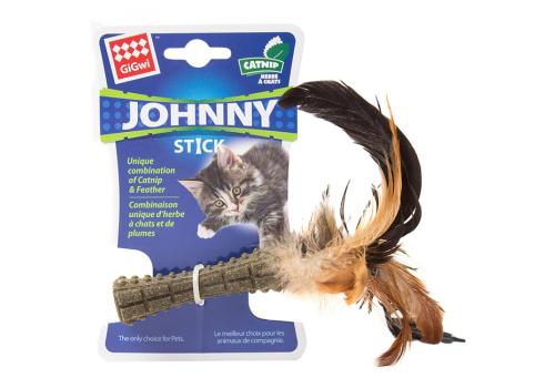 Игрушка для кошек GiGwi Прессованная кошачая мята с пером
