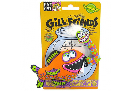 Игрушка для кошек FatCat Рыбка с наживкой, мягкая