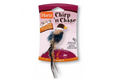 Игрушка для кошек Hartz Чирикающая птичка, мягкая