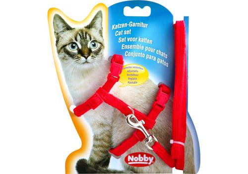 Шлейка для кошек Nobby, красный