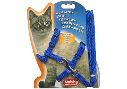 Шлейка для кошек Nobby, синий