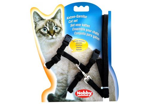 Шлейка для кошек Nobby, черный
