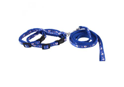 Шлейка для кошек Lilli Pet М 18-28см, синий