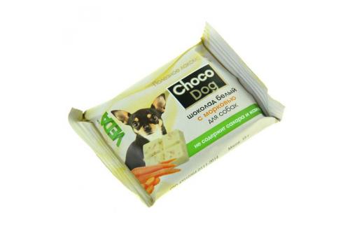 Лакомство Veda Choco Dog шоколад белый с морковью для собак, 15г