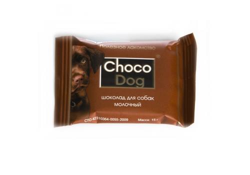 Лакомство Veda Choco Dog шоколад молочный для собак, 15г