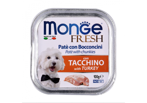 Консервы Monge Fresh для собак, индейка 100г
