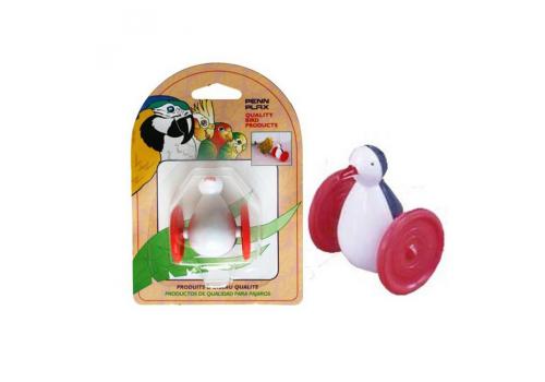 Игрушка для птиц Penn-Plax Пингвин на колесах