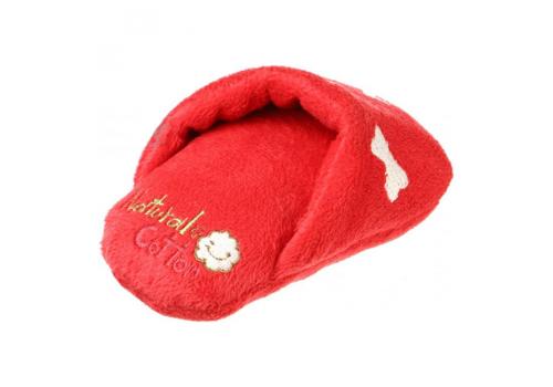 Игрушка для собак Lilli Pet Тапочек красный с пищалкой, 12см.
