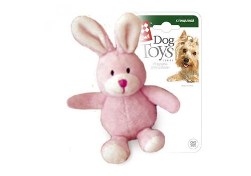 Игрушка для собак GiGwi Зайчик с пищалкой