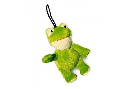 Игрушка для собак GiGwi Лягушка с пищалкой, 9см
