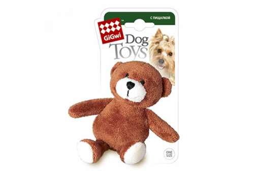 Игрушка для собак GiGwi Медведь с пищалкой, ткань