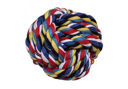 Игрушка для собак Lilli Pet Мяч веревочный Разноцветный, 8см
