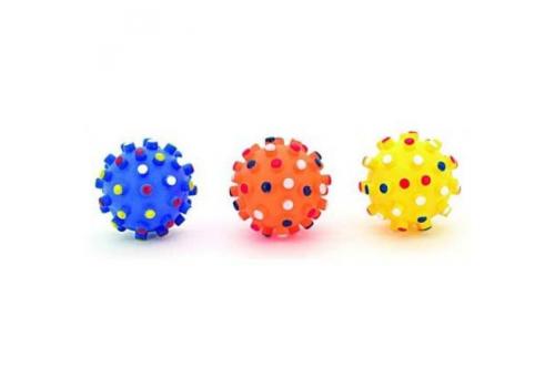 """Игрушка для собак Lilli Pet """"Мяч в точку"""" с пищалкой, 6.5см"""