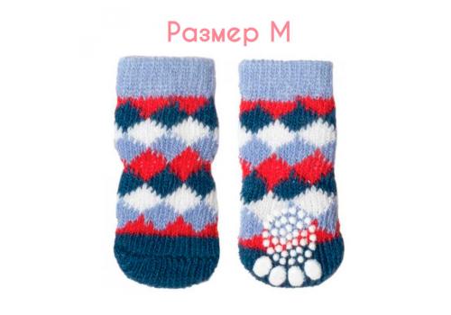 """Носки для собак Triol """"Ромбы"""", размер M (3*7,5см)"""