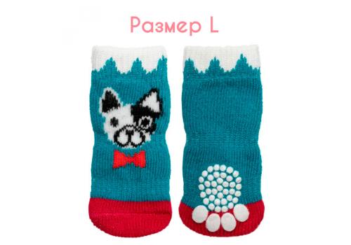 "Носки для собак Triol ""Собачка"", размер L (3,5*9см)"