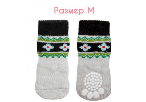 "Носки для собак Triol ""Цветы"", размер M (3*7,5см)"