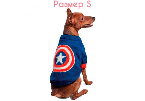 "Свитер для собак Triol-Marvel ""Капитан Америка"", размер S (25 см)"