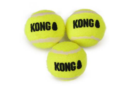 Игрушка для собак KONG Air Мяч теннисный очень маленький, 3 шт