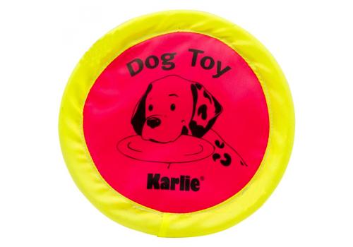 Игрушка для собак Karlie-Flamingo Летающая тарелка неоновая, d24 см
