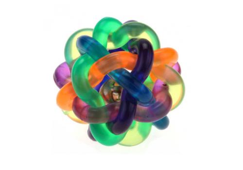Игрушка для собак Lilli Pet Плетеный мяч с колокольчиком, 7.5см