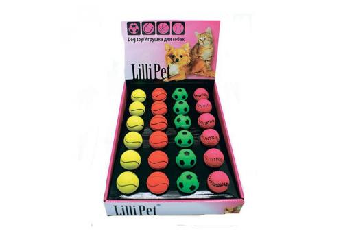 Игрушка для собак Lilli Pet Мяч неоновый резиновый, 5,7см