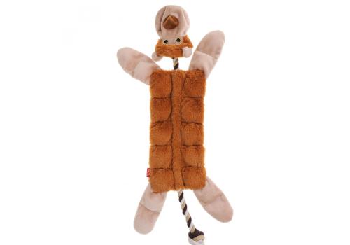 Игрушка GiGwi Обезьяна с пищалкой, ткань/веревочный материал