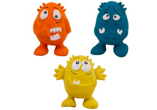 Игрушка Lilli Pet Разноцветные монстры с пищалкой для собак, 10см