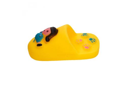 Игрушка для собак Lilli Pet Тапок, желтый, 12см