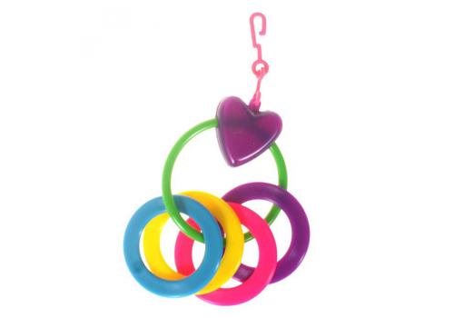 Игрушка для птиц Karlie Сердце с 4 кольцами