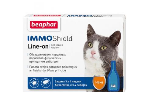 Капли Beaphar IMMO Shield от паразитов для кошек 1шт.