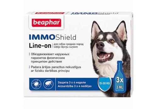 Капли Beaphar IMMO Shield от паразитов для собак средних пород 1шт