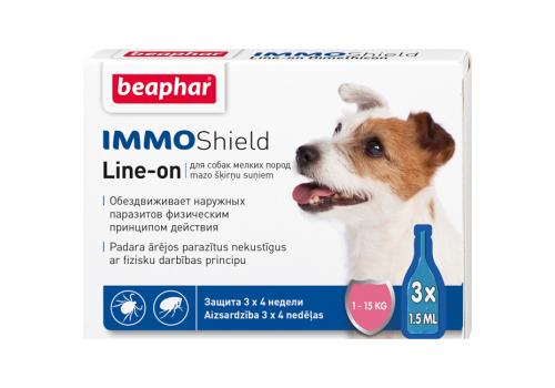 Капли Beaphar IMMO Shield от паразитов для собак мелких пород 1шт