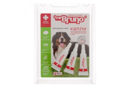 Mr.Bruno Капли от клещей и блох для собак весом более 40кг, 4.30мл